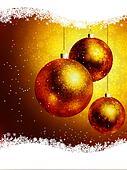 Elegant gold Christmas Card. EPS 8