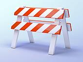 3d Roadworks barrier