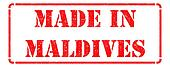 Made in Maldives on Red Stamp.