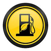 biofuel icon, yellow logo, bio fuel sign