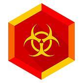 biohazard flat design modern icon