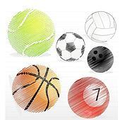 various sports ball