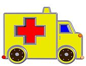 yellow ambulance,