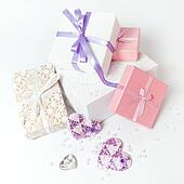 Cute gift boxes in pastel colors.