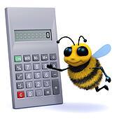 3d Bee calculates