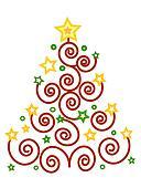 Christmas colors tree