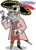 Pirate swashbuckler clip art