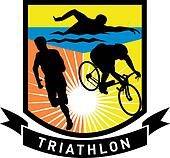 triathlon athlete run swim bike