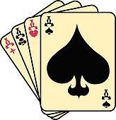 Aces spades poker clip art