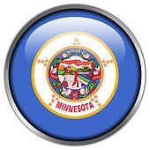 Minnesota State Flag glossy button
