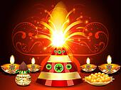 Diwali festival Background With Cracker's