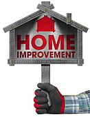 Home Improvement Sign with Meter Tool
