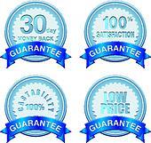 guarantee badge blue