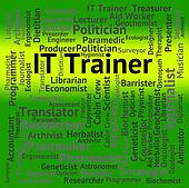 It Trainer Represents Information Technology And Communication