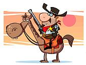 Sheriff Cowboy With A Golden Badge