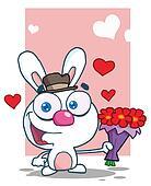 Romantic White Bunny