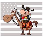 Western Sheriff On Horseback