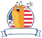 Cartoon Logo Mascot-Hot Dog