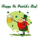 Leprechaun Holding A Beer
