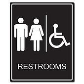 Restrooms sign illustration