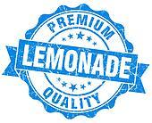 lemonade blue grunge seal isolated on white
