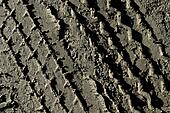 The tire tread mud background