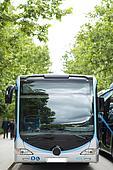 New modern city bus