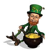 Leprechaun with Treasure