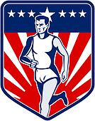 Marathon runner stars and stripes