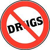 stop drugs sign illustration