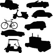 transport vector silhouettes