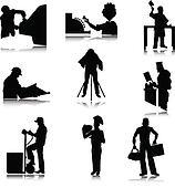 work people illustration silhouette