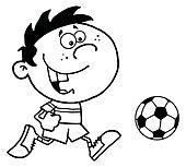 Boy Running After A Ball