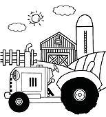 Farm Tractor In A Pasture