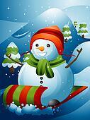 Snowman Sled