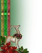 Christmas reindeer border