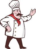 cartoon Italian chef