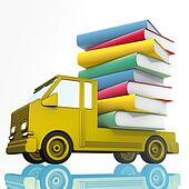 yellow van and books
