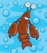 Crawfish Underwater