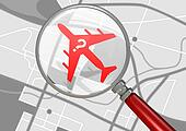 Missing Airplane And Magnifying Glass