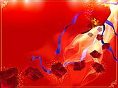 Red and gold Chinese background