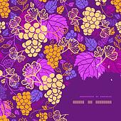 Sweet grape vines corner frame pattern background