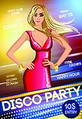 Night club party poster