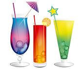 Fresh cooling exotic cocktails