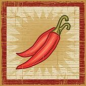 Retro chili pepper