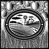 Retro farm black and white