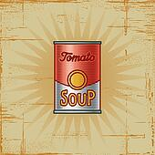Retro Tomato Soup Can