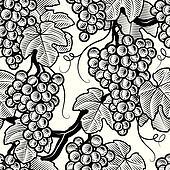 Seamless grape background