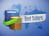 Best seller sign illustration design
