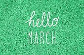 Hello March greeting